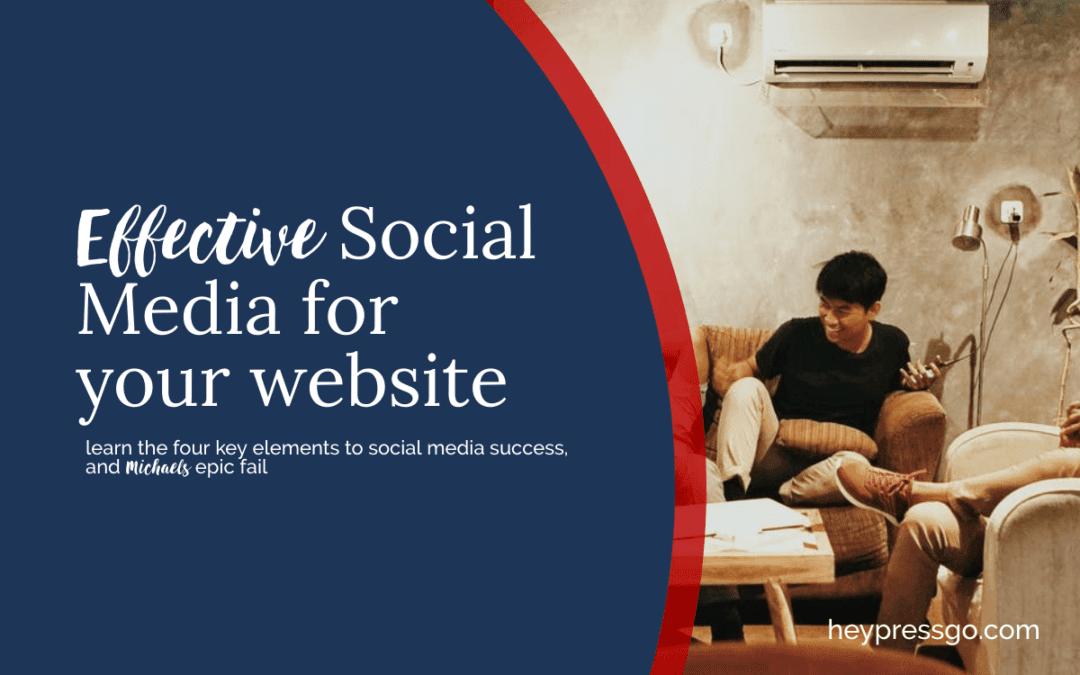 Social Media for Website best approach