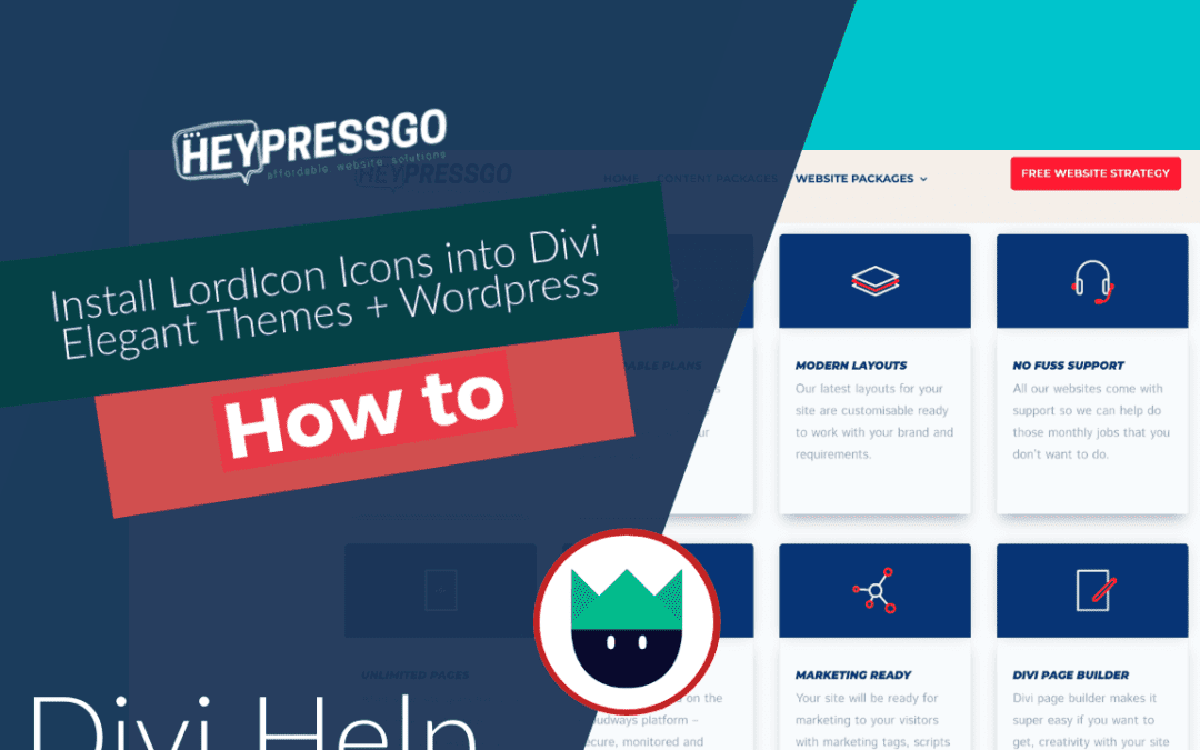 How to install Lord Icon with Divi themes